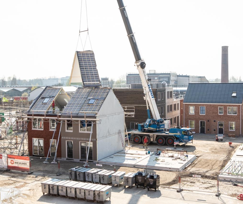 Circulair bouwen, Loskade, Groningen, Van Wijnen