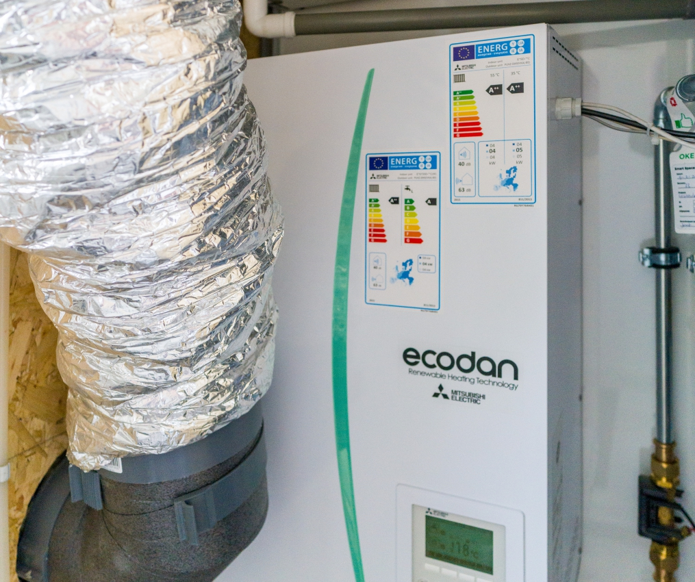 De Loskade Ecodan lucht water warmtepomp Mitsubishi