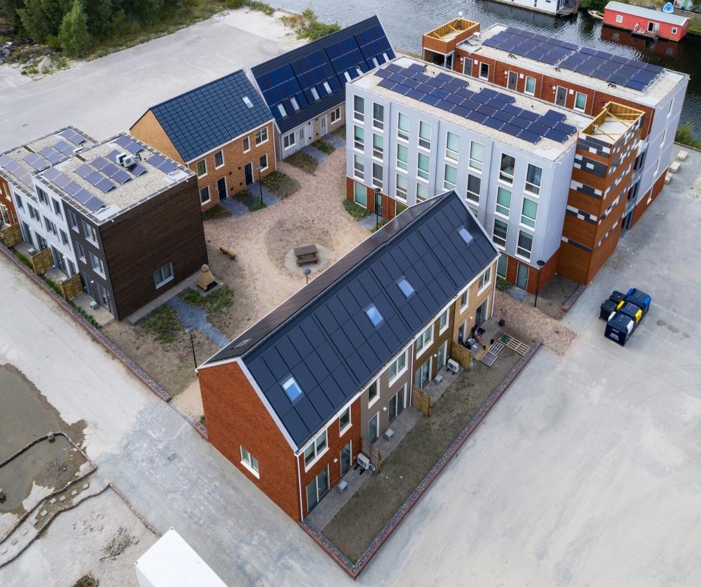 De Loskade, living lab, circulaire wijk, circulair bouwen, smart energie, tijdelijk huren, bewoners, experimenteren, fijn wonen, groningen, suikerfabriekterrein, de suiker, suikerfabrieksterrein, suikerterrein, groningen, van wijnen, fijn wonen
